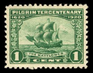 Pilgrim Tercentenary, 1-cent,