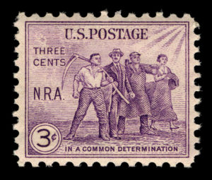 National Recovery Act issue, 1933 (Smithsonian National Postal Museum Collection