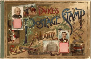 : Duke's Postage Stamp Album, 1889 (John W. Hartman Center for Sales, Advertising & Marketing History Duke University Rare Book, Manuscript, and Special Collections Library)