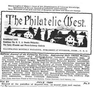 Philatelic West masthead, July 1904 (available in Hathi Trust)
