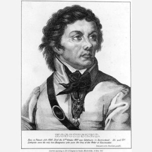 Tadeusz Kosciuszko, lithograph, 1833 (Image, Smithsonian National Portrait Gallery)
