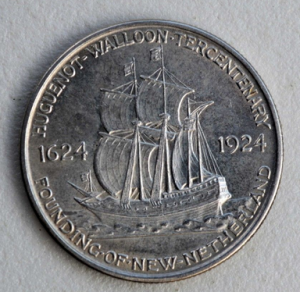 Huguenot-Walloon Tercentenary Commemorative Silver half dollar (1924, eBay)