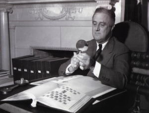 Photograph of Franklin D. Roosevelt, Smithsonian National Postal Museum Collection