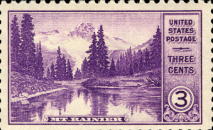 National Parks Mt. Rainier 3c issue (Smithsonian National Postal Museum collection)