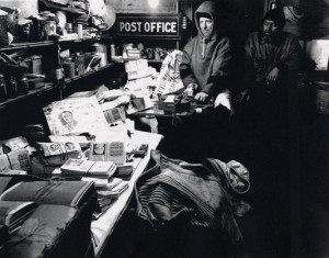 Little America post office overrun with covers awaiting cancellation. ( Smithsonian National Postal Museum Collection)