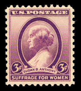 Susan B. Anthony, 3-cent, 1936 (Smithsonian National Postal Museum Collection)